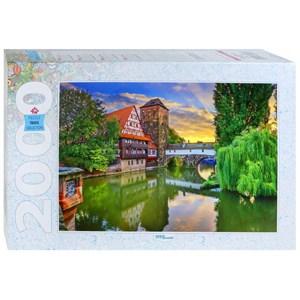 "Step Puzzle (84039) - ""Hangman's Bridge Nuremberg, Germany"" - 2000 piezas"