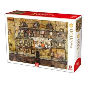 """Deico (76748) - Egon Schiele: """"House Wall on the River"""" - 1000 piezas"""