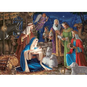 "Cobble Hill (80248) - Liz Goodrick-Dillon: ""Miracle in Bethlehem"" - 1000 piezas"
