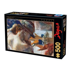 "D-Toys (73938) - Edgar Degas: ""In Front of the Mirror"" - 500 piezas"