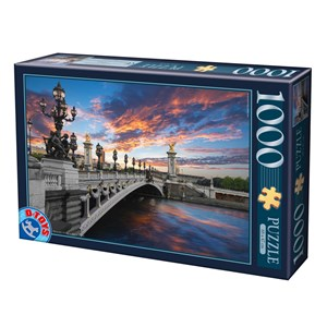 "D-Toys (74744) - ""Alexander III Bridge, Paris, France"" - 1000 piezas"