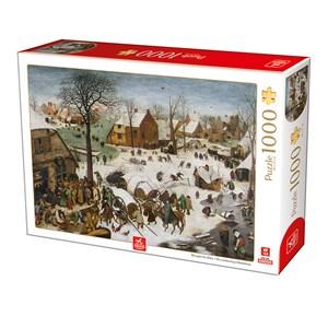 "Deico (76649) - Pieter Brueghel the Elder: ""The numbering at Bethlehem"" - 1000 piezas"