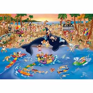 "D-Toys (70876) - ""Trafic Jam at the Beach"" - 1000 piezas"
