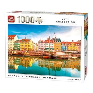 "King International (05704) - ""Nyhavn, Copenhaguen, Denmark"" - 1000 piezas"