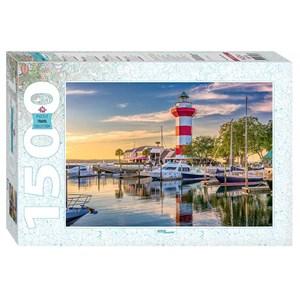 "Step Puzzle (83063) - ""Harbour Town Lighthouse, South Carolina"" - 1500 piezas"