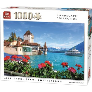 "King International (55941) - ""Lake Thun, Bern, Switzerland"" - 1000 piezas"