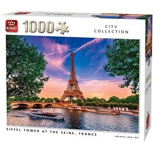 """King International (55851) - """"Eiffel Tower at The Seine"""" - 1000 piezas"""