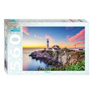 "Step Puzzle (78104) - ""Portland Head Lighthouse"" - 560 piezas"