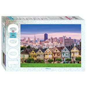 "Step Puzzle (79141) - ""The Painted Ladies of San Francisco"" - 1000 piezas"