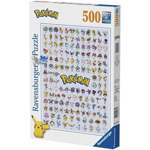 "Ravensburger (14781) - ""Pokémon, Pokédex First Generation"" - 500 piezas"