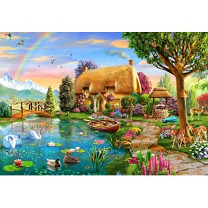 "Bluebird Puzzle (70254) - Adrian Chesterman: ""Lakeside Cottage"" - 6000 piezas"