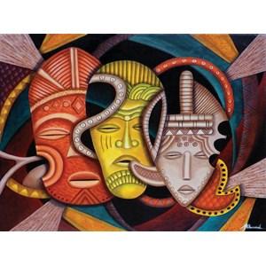 "SunsOut (39365) - Marcella Muhammad: ""Society Masks"" - 1000 piezas"