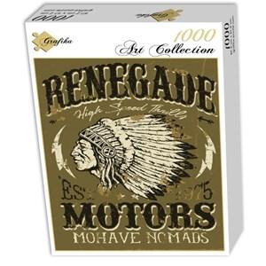 """Grafika (00647) - """"Vintage Americana Motorcycle Design"""" - 1000 piezas"""