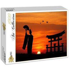 "Grafika (00653) - ""Geisha at Sunset"" - 1000 piezas"
