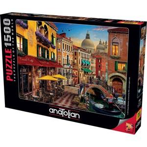 "Anatolian (4553) - David McLean: ""Canal Cafe Venice"" - 1500 piezas"