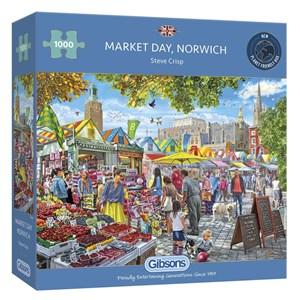"""Gibsons (G6297) - Steve Crisp: """"Market Day Norwich"""" - 1000 piezas"""