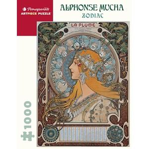 """Pomegranate (aa1085) - Alphonse Mucha: """"Zodiac"""" - 1000 piezas"""