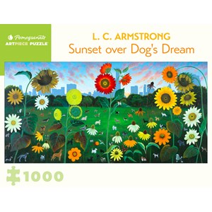 "Pomegranate (aa1090) - L. C. Armstrong: ""Sunset over Dog's Dream"" - 1000 piezas"