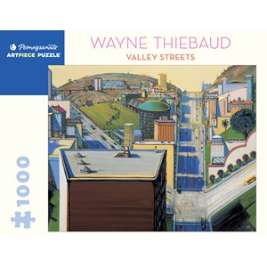"Pomegranate (aa1080) - Wayne Thiebaud: ""Valley Streets"" - 1000 piezas"