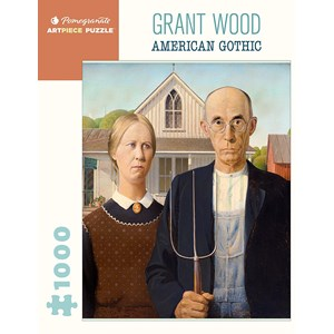 "Pomegranate (aa1081) - Grant Wood: ""American Gothic"" - 1000 piezas"