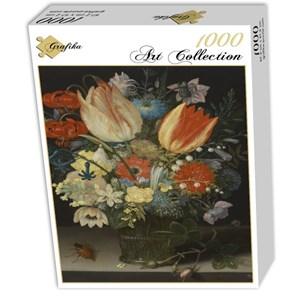 "Grafika (01582) - Peter Binoit: ""Still Life with Tulips, 1623"" - 1000 piezas"
