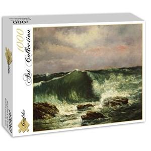 "Grafika (01157) - Gustave Courbet: ""Waves, 1870"" - 1000 piezas"