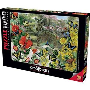"Anatolian (1084) - Barbara Behr: ""Peacock in the Garden"" - 1000 piezas"
