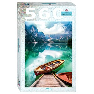 """Step Puzzle (78108) - """"Lake Prags in South Tyrol, Italy"""" - 560 piezas"""