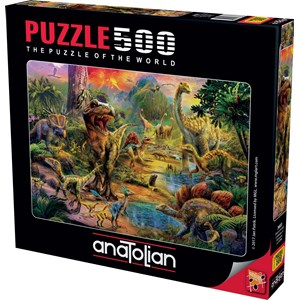 "Anatolian (3603) - Jan Patrik Krasny: ""Landscape of Dinosaurs"" - 500 piezas"