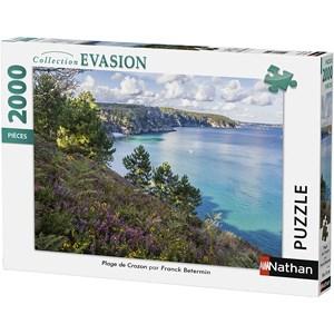 """Nathan (87879) - """"Beach of Crozon"""" - 2000 piezas"""