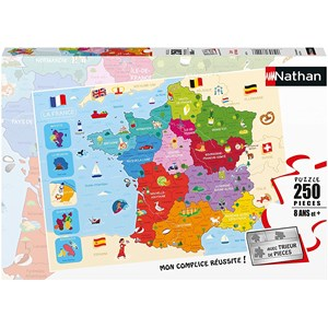 """Nathan (86875) - """"Map of France"""" - 250 piezas"""