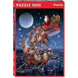 "Piatnik (5497) - ""Santa's Flying Sleigh"" - 1000 piezas"