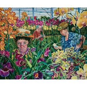 """SunsOut (44272) - Susan Brabeau: """"Orchids with Mantis"""" - 1000 piezas"""