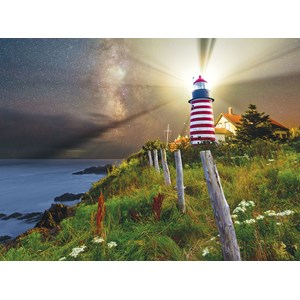 "SunsOut (45701) - Michael Blanchette: ""Night over West Quoddy Lighthouse"" - 1000 piezas"