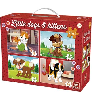 "King International (05641) - ""Little Dogs & Kittens"" - 12 16 20 24 piezas"