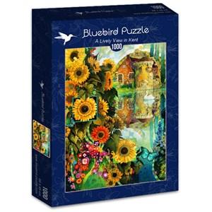 "Bluebird Puzzle (70205) - David Galchutt: ""A Lively View in Kent"" - 1000 piezas"