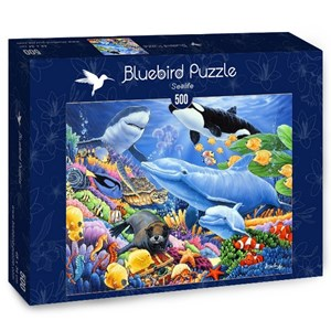 "Bluebird Puzzle (70084) - Jenny Newland: ""Sealife"" - 500 piezas"