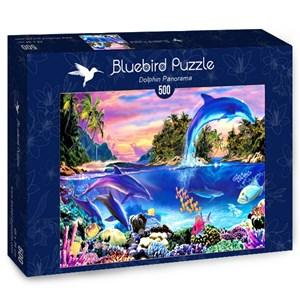 """Bluebird Puzzle (70132) - Robin Koni: """"Dolphin Panorama"""" - 500 piezas"""