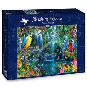 "Bluebird Puzzle (70030) - Alixandra Mullins: ""Parrot Tropics"" - 3000 piezas"