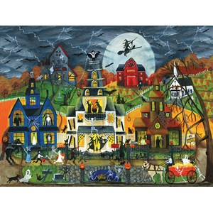 "SunsOut (54758) - Cheryl Bartley: ""Spooky Street"" - 300 piezas"