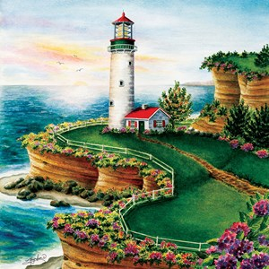 "SunsOut (45622) - ""Lighthouse Sunset"" - 500 piezas"