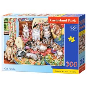 "Castorland (B-030439) - ""Cat Family"" - 300 piezas"