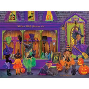 "SunsOut (35970) - Tricia Reilly-Matthews: ""Witch Broom Shop"" - 300 piezas"
