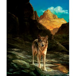 "SunsOut (43031) - Julie Bell: ""Lone Wolf"" - 1000 piezas"