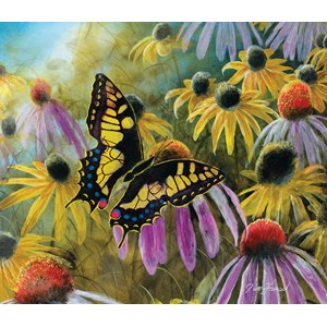 "SunsOut (67322) - Jim Hansel: ""Swallowtail Vistor"" - 550 piezas"