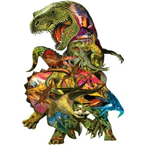 """SunsOut (90426) - Dennis Rogers: """"T Rex Attack"""" - 1000 piezas"""