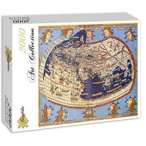 "Grafika (00919) - Claudius Ptolemy: ""The World, 1482"" - 2000 piezas"