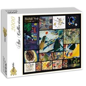 "Grafika (00843) - Vassily Kandinsky: ""Vassily Kandinsky, Collage"" - 2000 piezas"