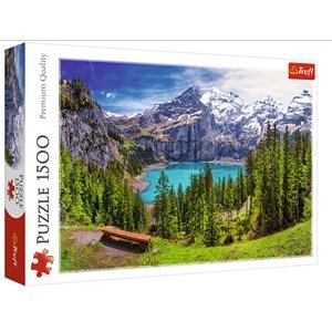 "Trefl (26166) - ""Lake Oeschinen, Alps, Switzerland"" - 1500 piezas"