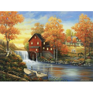 "SunsOut (62118) - John Zaccheo: ""Sunset at the Old Mill"" - 300 piezas"